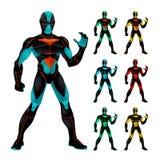 Set futurystyczni charaktery. Zdjęcie Stock