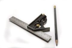 set fyrkant för blyertspenna Royaltyfri Foto