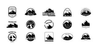 Set góra logotypy ilustracja wektor
