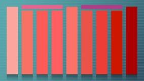 Set główni kolory roku 2019 Żywy koral Swatch paskujący trend barwi dla przemysł mody rozochoconej miękkiej części i ciepłego ins royalty ilustracja