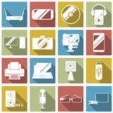 Set of gadget icon. Vector illustration stock photo