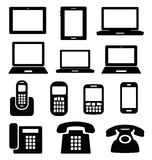 Set of gadget icons. Royalty Free Stock Photography