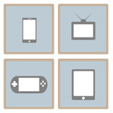 Set of gadgets in flat style Royalty Free Stock Images