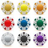 Set gambling casino chips isolated Royalty Free Stock Image