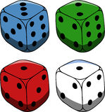 Set of gambling dices Stock Photos