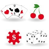Set of gambling icons Royalty Free Stock Photo