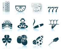 Set of gambling icons Royalty Free Stock Photography