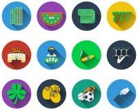Set of gambling icons Royalty Free Stock Photos