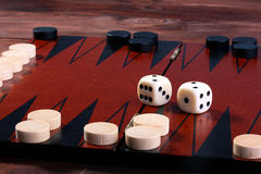 Set for game in a backgammon Stock Photo