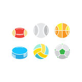 Set of game balls Royalty Free Stock Images