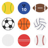 Set of game balls. Flat design, illustration royalty free illustration