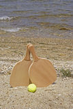 Set for a game of beach tennis Stock Image
