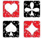 Set of game cards. Grunge stamp. Vector illustration Royalty Free Stock Photo