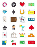 Set of game of chance  icons. Set of 24 game of chance  icons Royalty Free Stock Photography