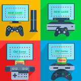 Set game consoles Stock Images