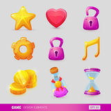 Set with game design elements. Vector illustration. EPS 10 vector illustration