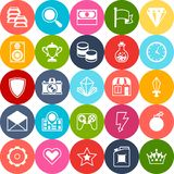 Set of game icons in flat design style Stock Photos