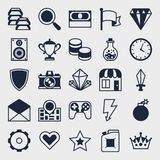 Set of game icons in flat design style Royalty Free Stock Image
