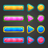 Set of game interface button Stock Photo