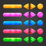 Set of game interface button color Royalty Free Stock Photography