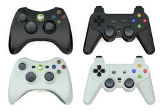 Set of gamepads Royalty Free Stock Image