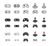 Set of Gamepads Stock Images