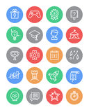 Set of Gamification Icons Royalty Free Stock Photos