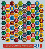 Set of gaming icons Stock Photos