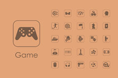 Set of gaming simple icons Stock Photo
