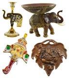 Set with Ganesha symbols Royalty Free Stock Images