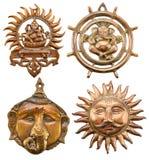 Set with Ganesha symbols 2 Stock Image