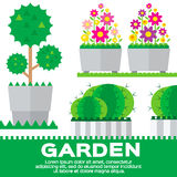 Set of garden elements Stock Images