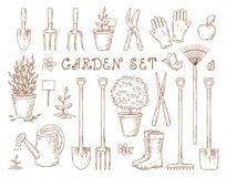 Set of garden equipment Stock Photography