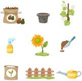 Set of garden Royalty Free Stock Photos