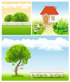 Set of garden images - templates for design Royalty Free Stock Image