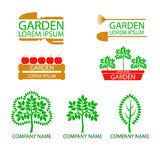 A set of garden logos Stock Photography