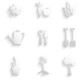Set of garden and nature icon Royalty Free Stock Photo