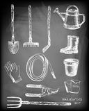 Set of garden related objects Stock Photo
