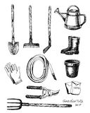 Set of garden related objects Royalty Free Stock Photography