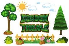 Set of garden theme stock illustration