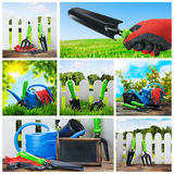 Set of garden tools. And accessories Royalty Free Stock Photography