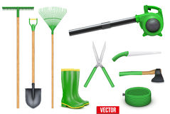 Set of Garden tools Stock Photo