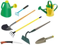 Set of garden tools Royalty Free Stock Photo