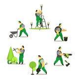 Set of garden workers Stock Photos