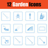 Set of gardening icons Stock Photography