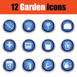 Set of gardening icons. Royalty Free Stock Images