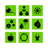 Set of gardening icons Stock Images