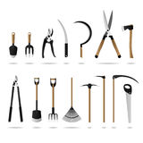 Set of Gardening Tools. A set of gardening tools and equipments Stock Photography