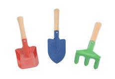 Set of gardening tools. Isolated on white background Stock Images