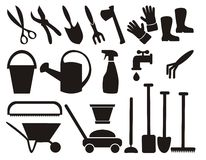 Set of gardening tools Stock Photo